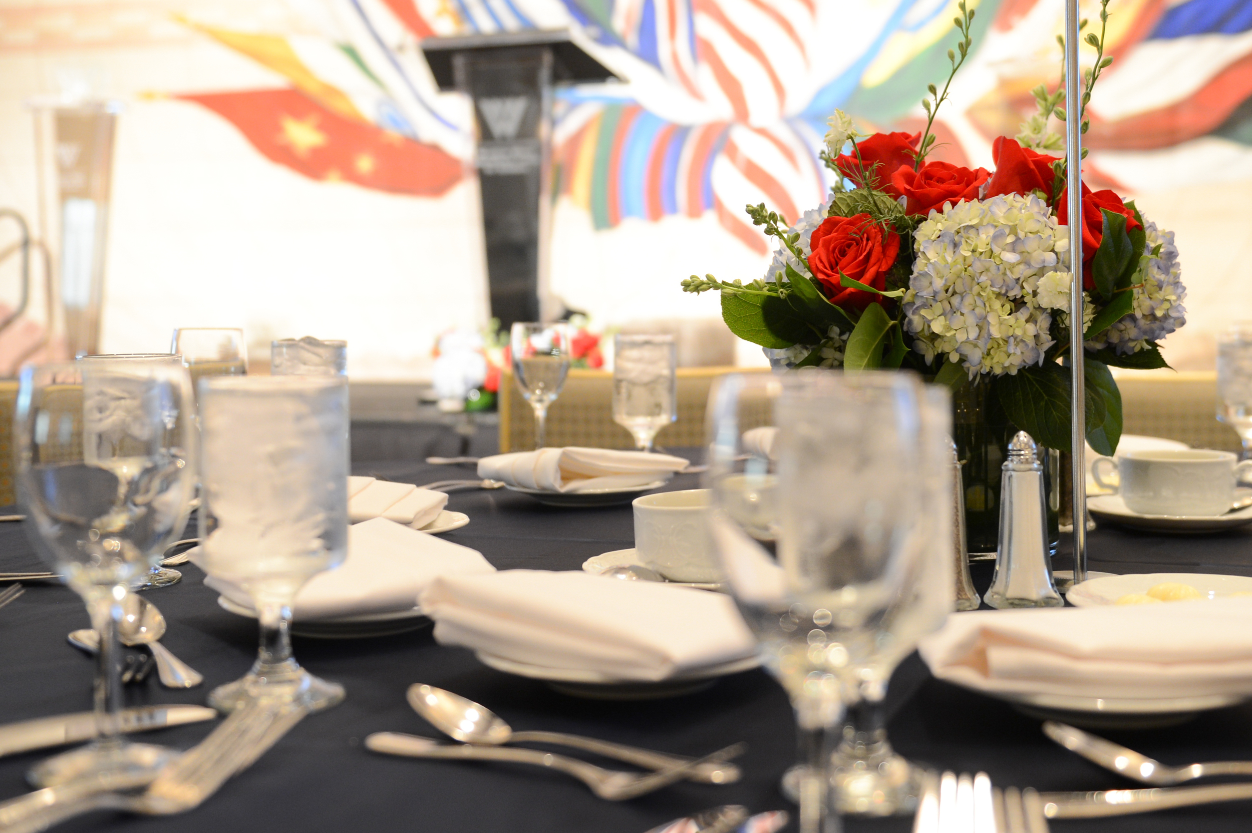 Table setting at the Woodrow Wilson Center Awards in 2014.