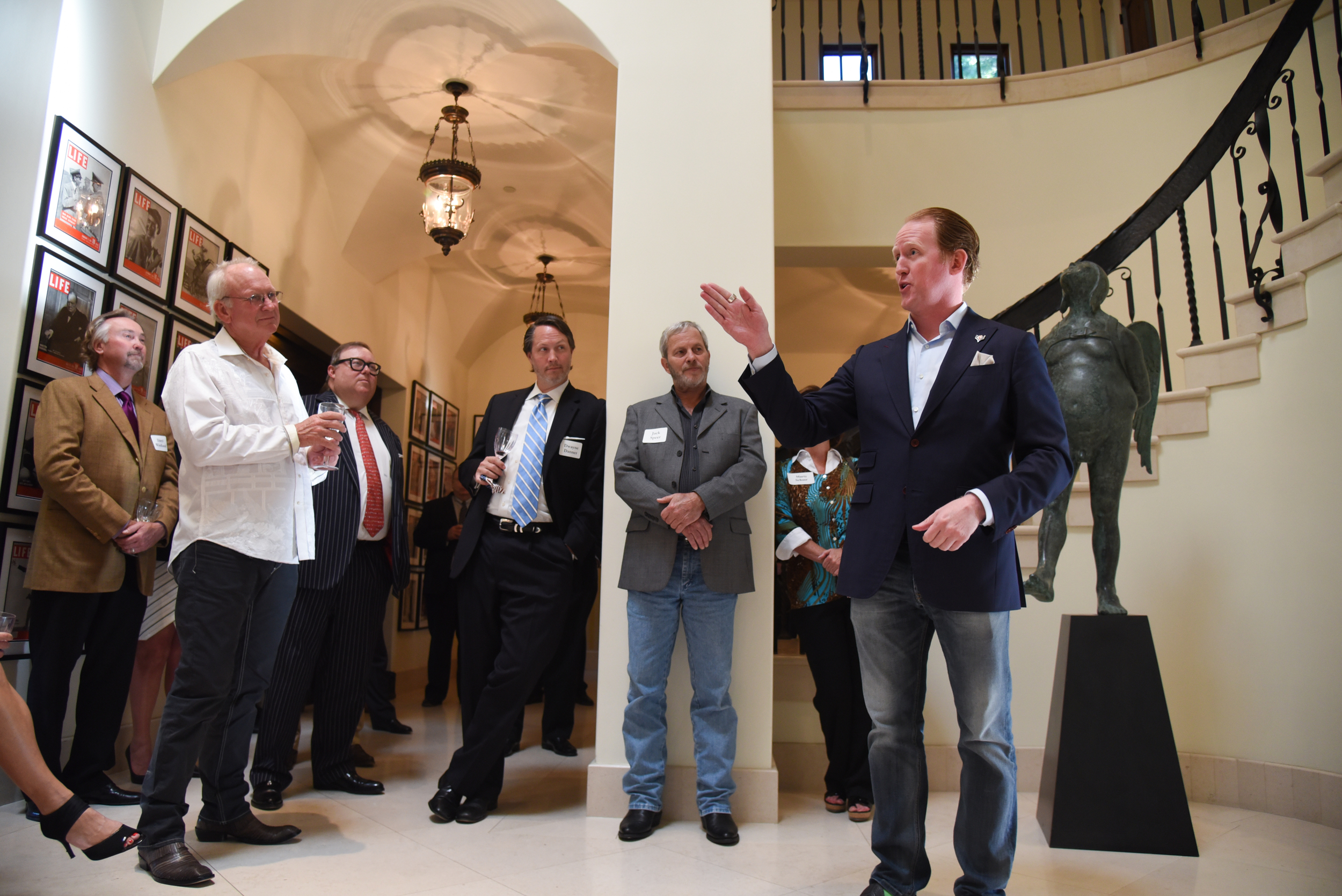 SEAL Team 6 hero, Rob O'Neill, gives remarks and attends the Ryan Zinke for Congress Dallas reception in 2016.