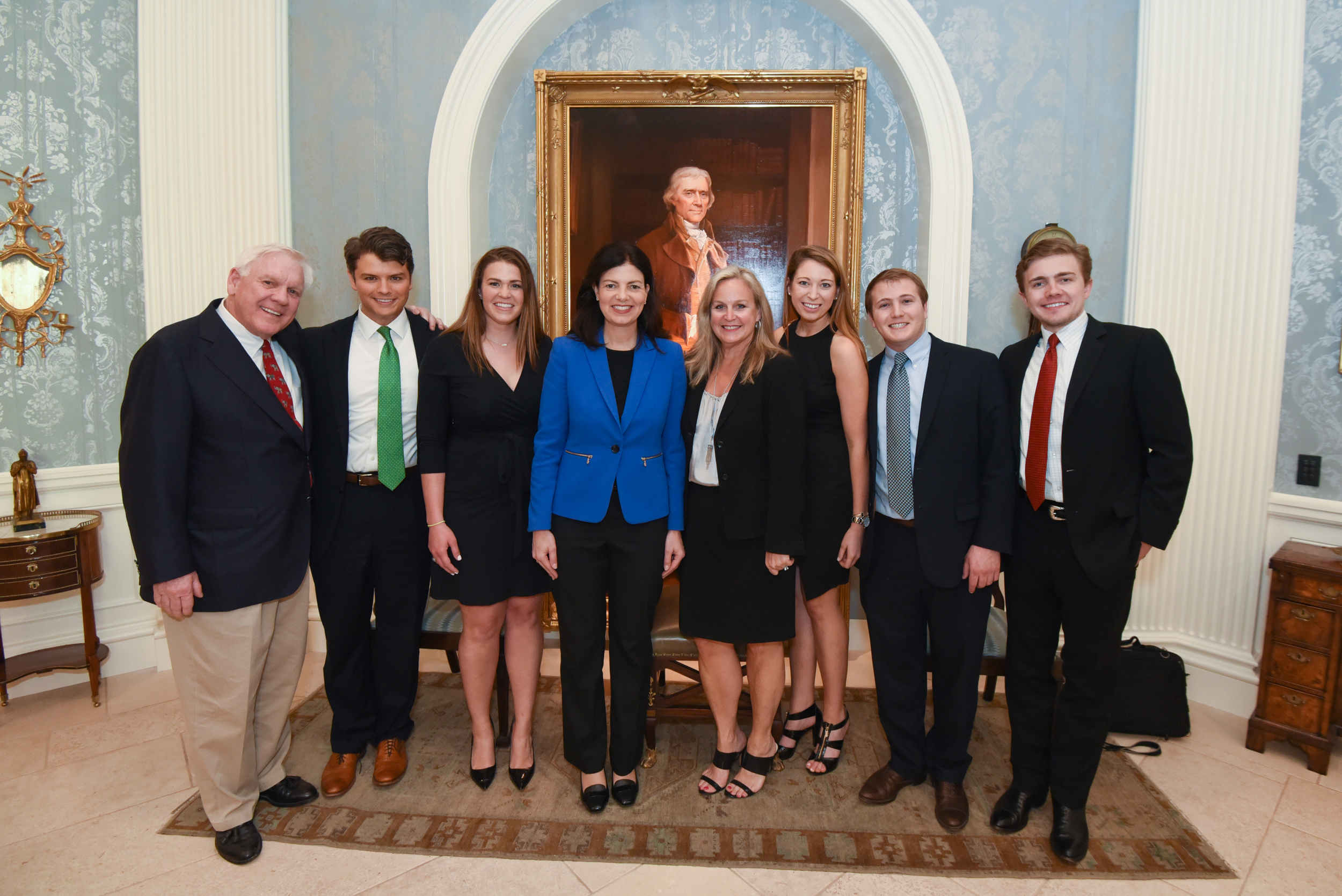 The McIntosh Company team with Senator Kelly Ayotte and Harlan Crow at Old Parkland in May 2016.