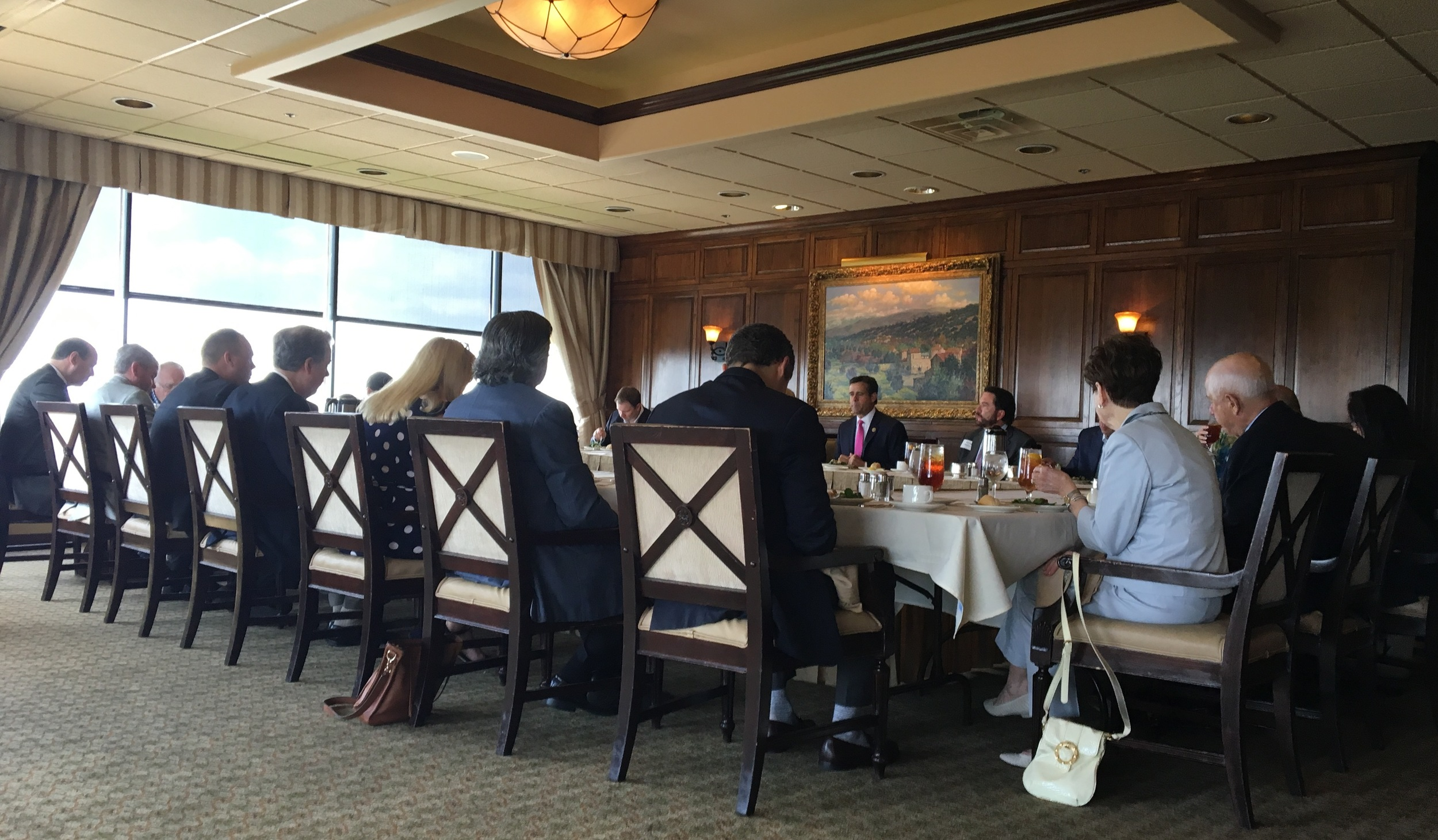 Congressman John Ratcliffe (TX-04) holds a lunch with supporters at the Park City Club in Dallas in 2016.