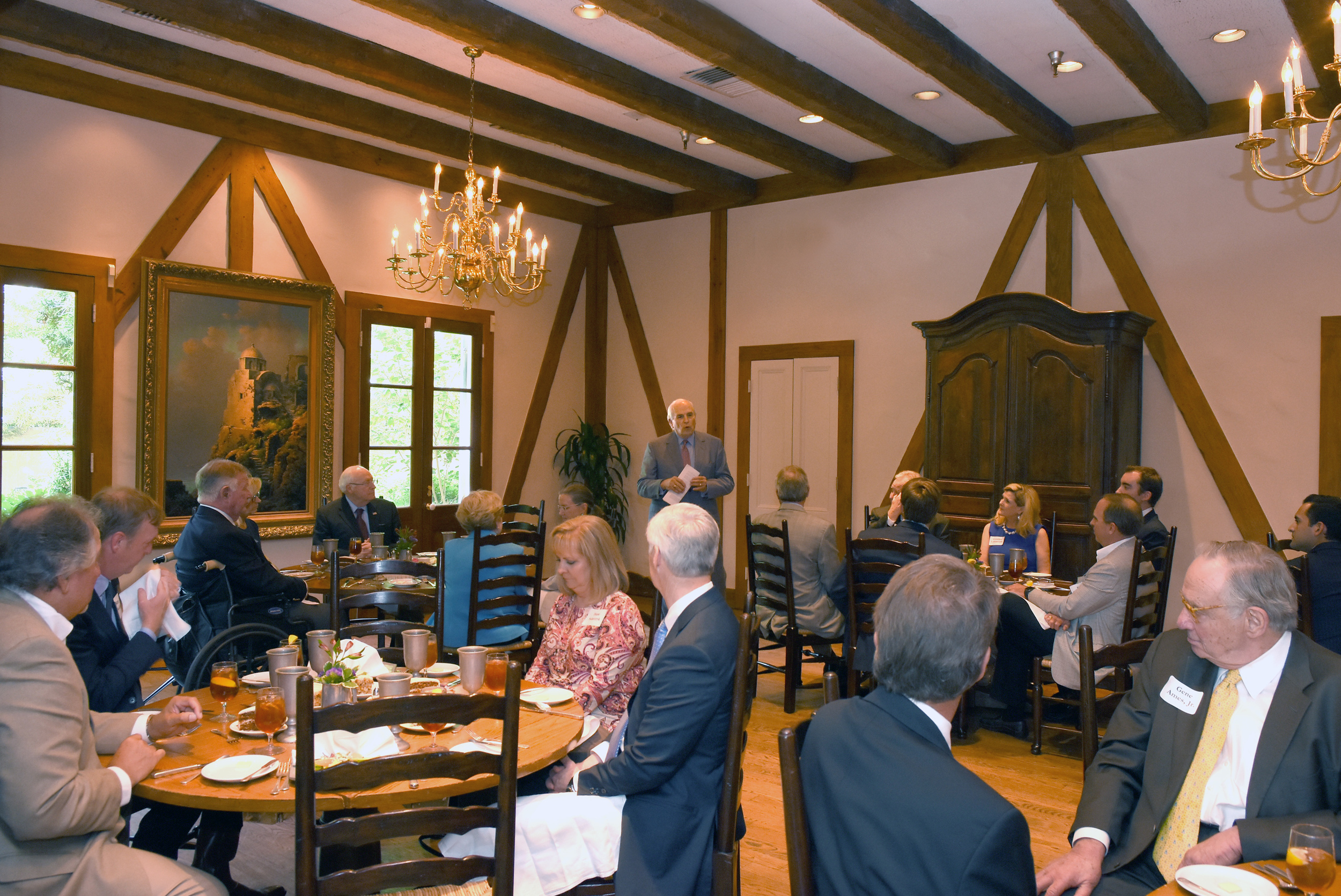 A Liz Cheney for Wyoming fundraiser lunch with Liz Cheney and Vice President Dick Cheney in San Antonio in 2016.