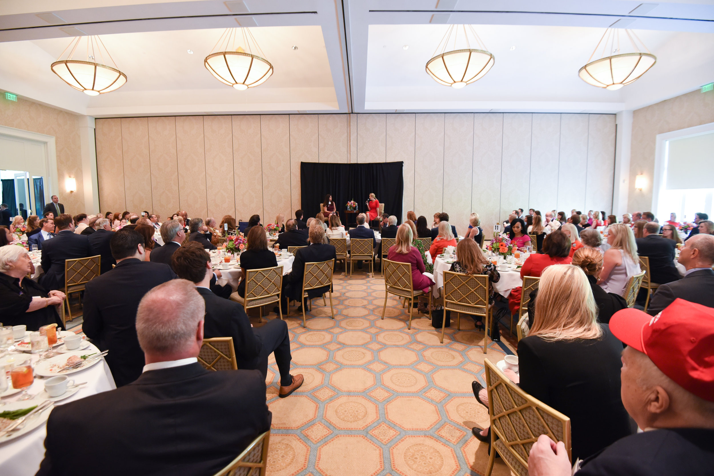 Ivanka Trump and supporters of her father, Donald J. Trump, at a Dallas luncheon on September 21.