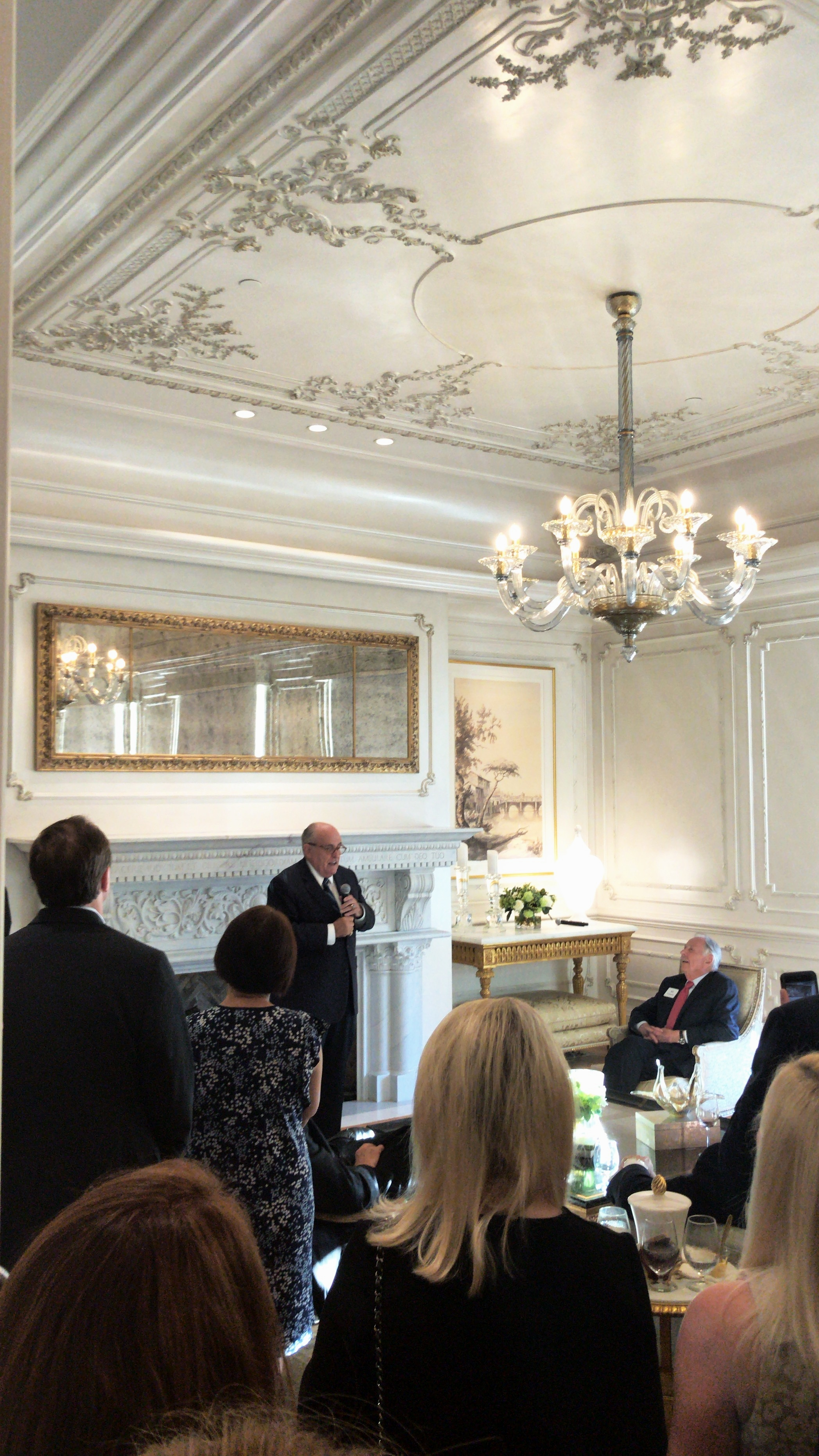 Rudy Giuliani honoring DALENPAC and former Congressman Pete Sessions in 2018.
