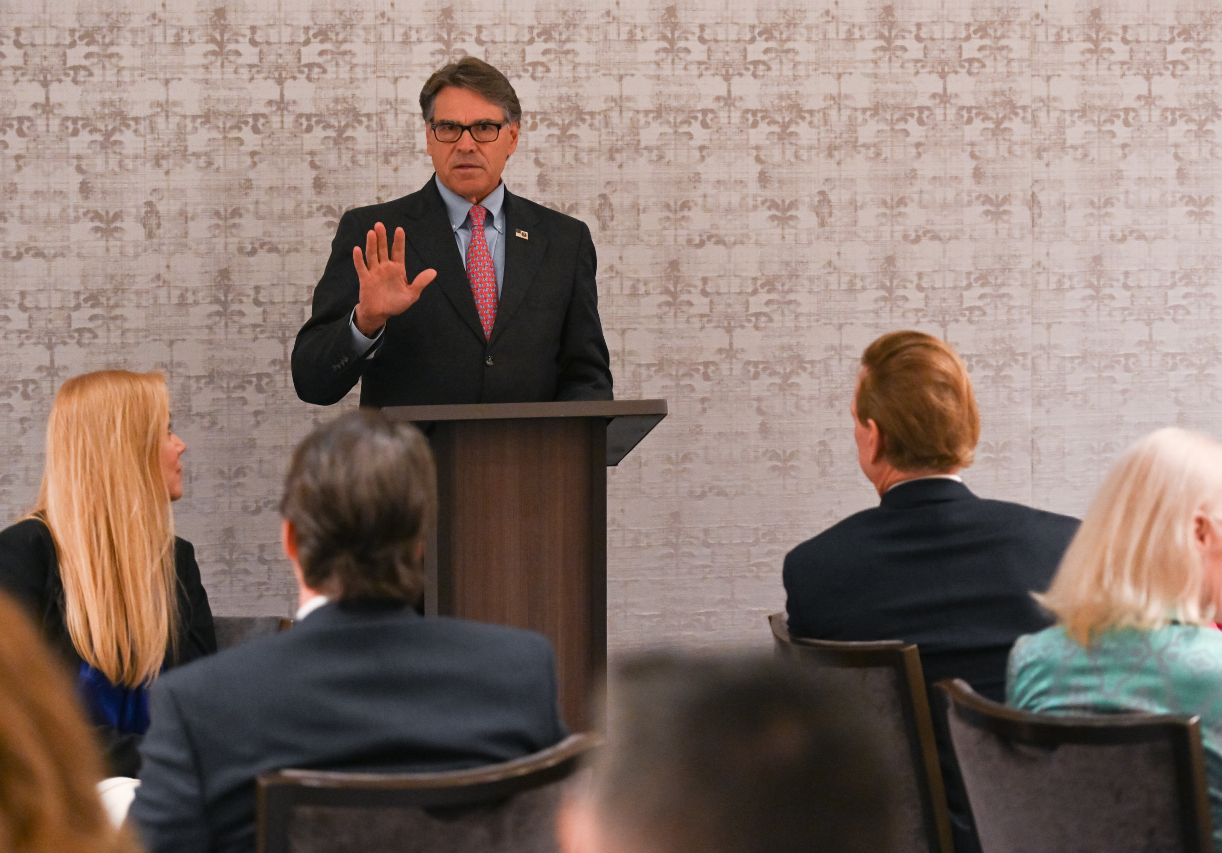 Secretary Rick Perry speaking at an NRCC luncheon in 2019.