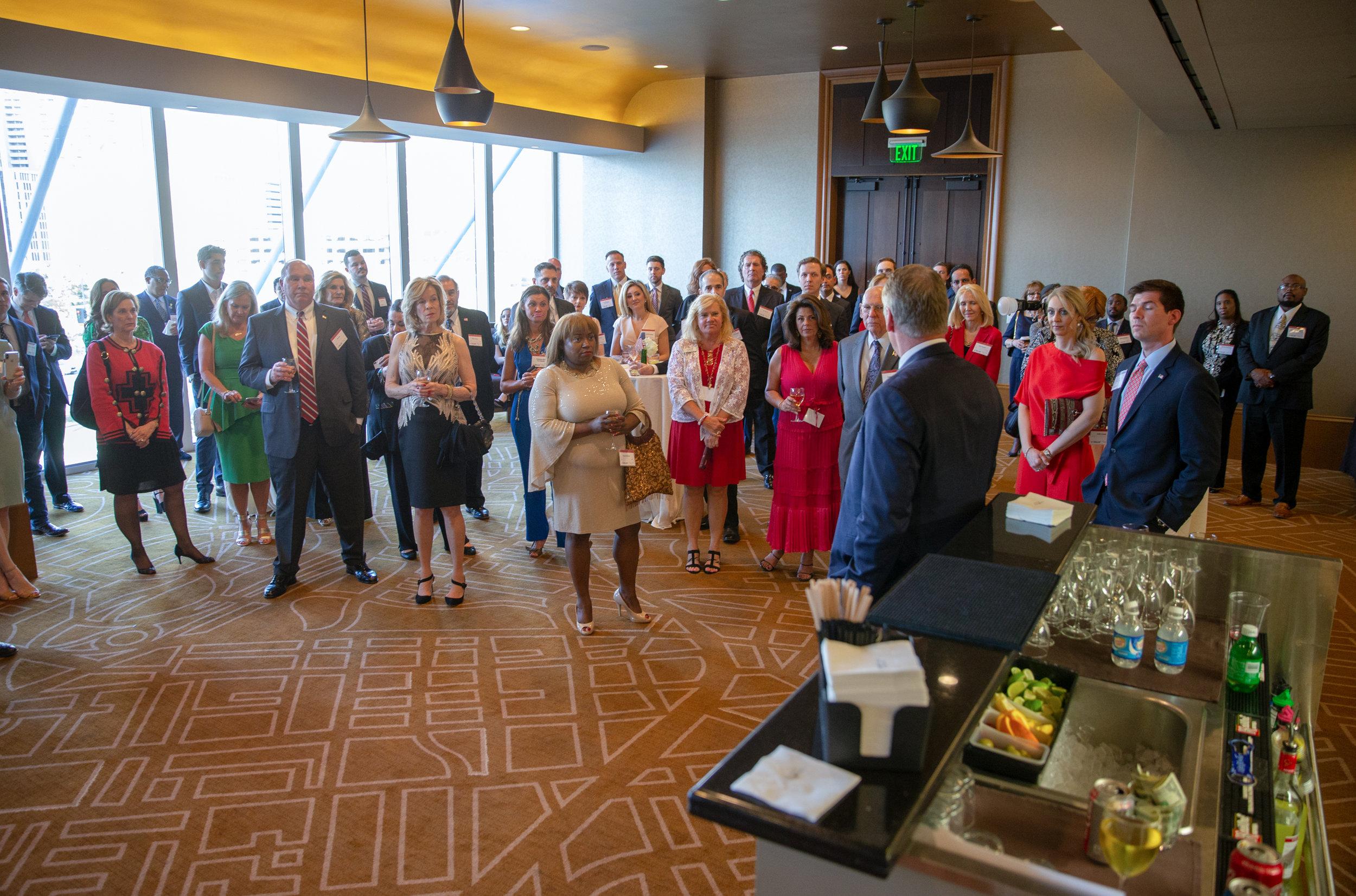 Dallas County's annual Reagan Day dinner reception with former Secretary Ryan Zinke and former EPA Administrator Scott Pruitt in 2019.
