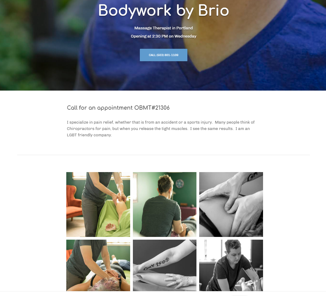 Lifestyle Photography Bodywork by Brio