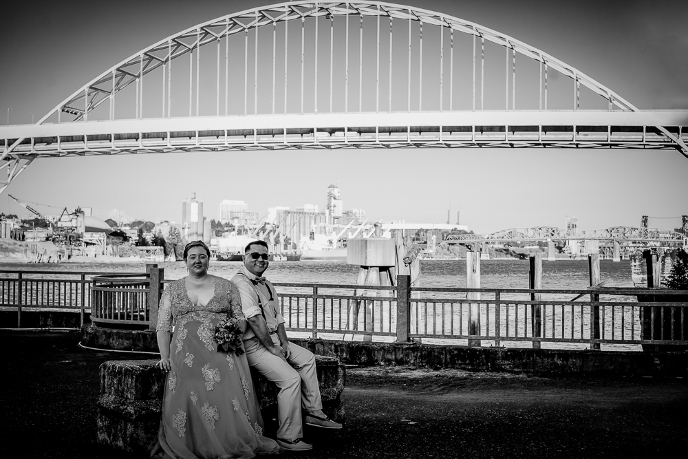Martin Wedding - Morgan Martin reviewed Angela Holm Photography on FB — 5 starI have so many good things to say about Angela and her photography! First I have to talk about the serendipity of our finally meeting. Angela and I lived in the same building in Northwest Portland for years without ever getting introduced! I moved down to the waterfront and work in St. Johns. When I was researching photographers for our ceremony I was hitting a wall, most studios had a minimum of time for shooting a wedding, usually at least 6 hours! Ours was going to be a very intimate shindig, 10-12 people including us and the judge, so we didn't need 6 hours of a photographer's time. I then had a stroke of brilliance and went in to Blue Moon Camera to get a recommendation, and got in touch with Angela. What a perfect match! She is so easy to work with, flexible, and understood intuitively the kind of pictures we were hoping for. We immediately got along like gangbusters, felt perfectly comfortable and at ease. And the results are perfect!