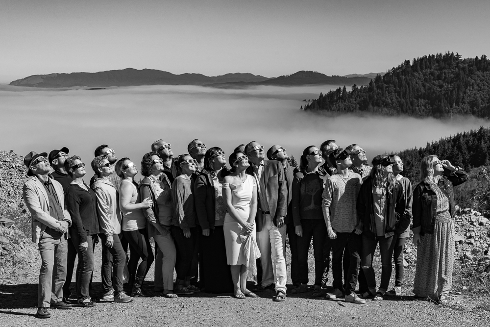 Nute Wedding - Howard Nute reviewed Angela Holm Photography on FB — 5 starsWe contacted Angela to photograph our beach wedding during the solar eclipse in August 2017. Angela went above and beyond traveling to the site from her home in Portland and spending two days with our wedding party. We got both beautiful wedding photos and also some once in a lifetime eclipse romance photographs. Angela, is easy to work with, has a great social demeanor, and took a cadre of stunning photographs. After reviewing her photos we went a step further and had her make photo books for all members of our families. If you are in the NW and need a great photographer she should be high on your list!Here's to life, love, and making memories!
