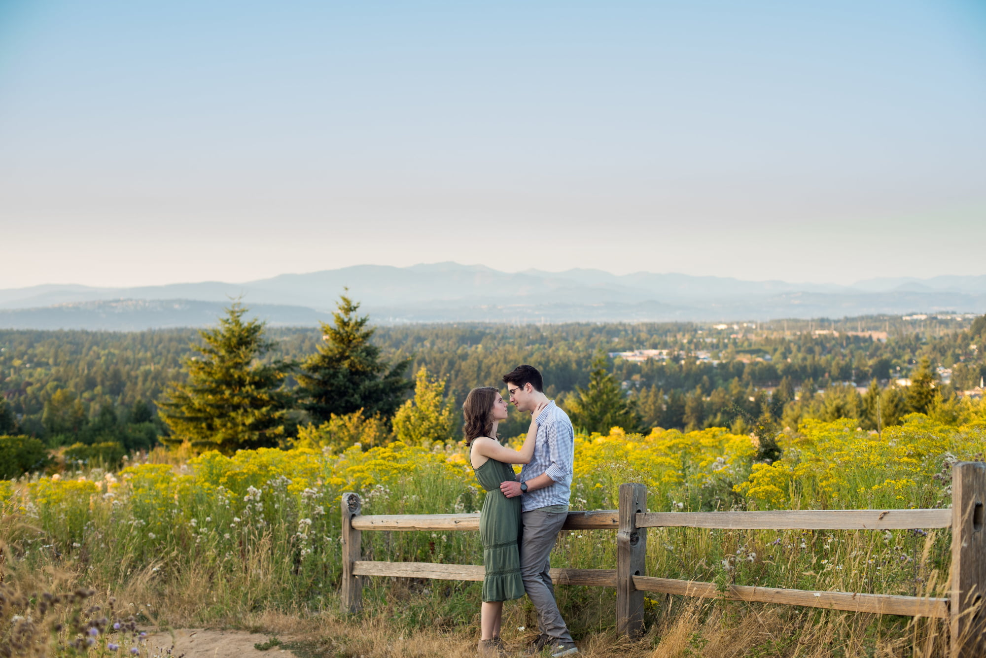 Engagement session at Powell Butte in Portland