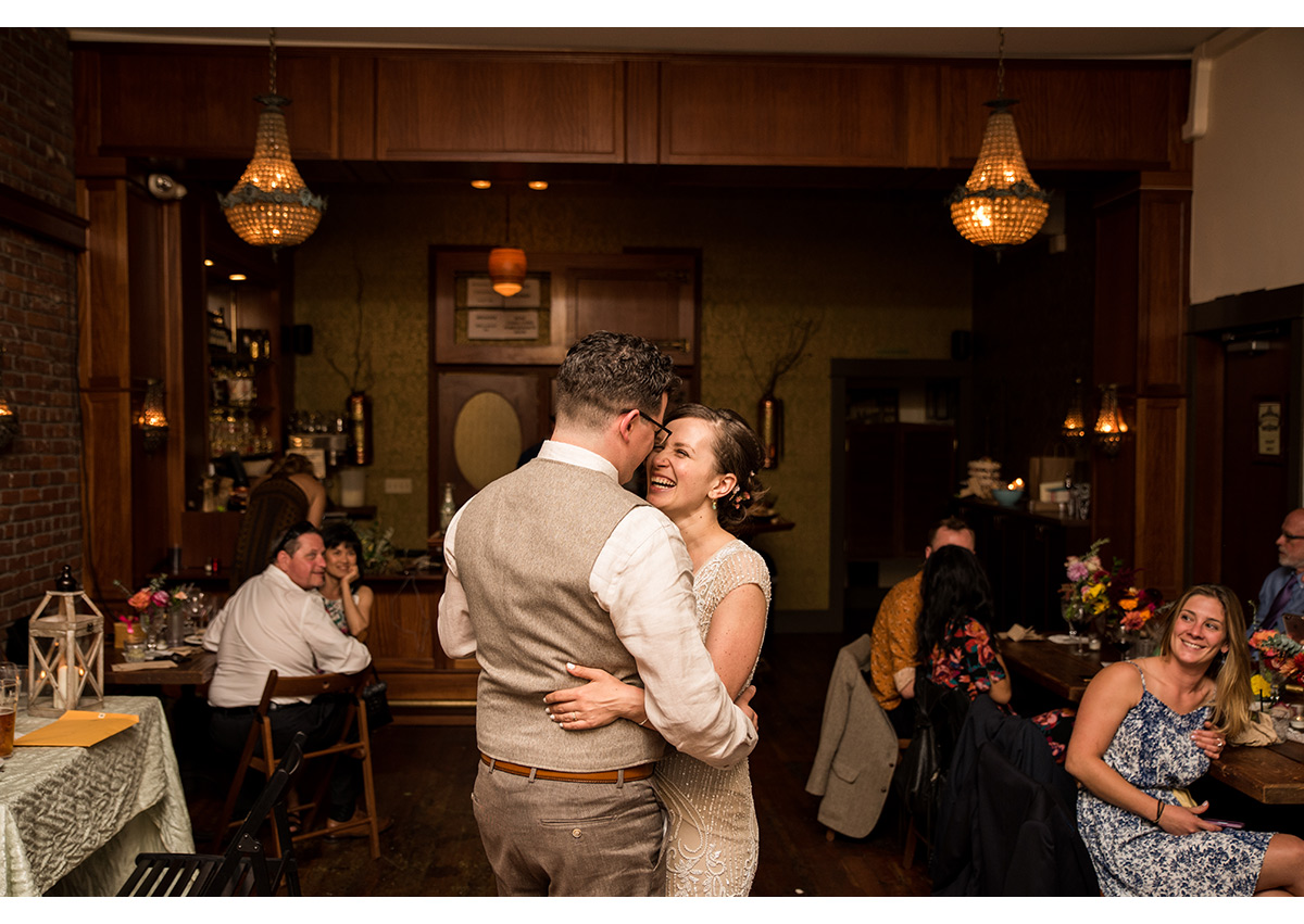 Bride and Groom share first dance in Bad Habit Room