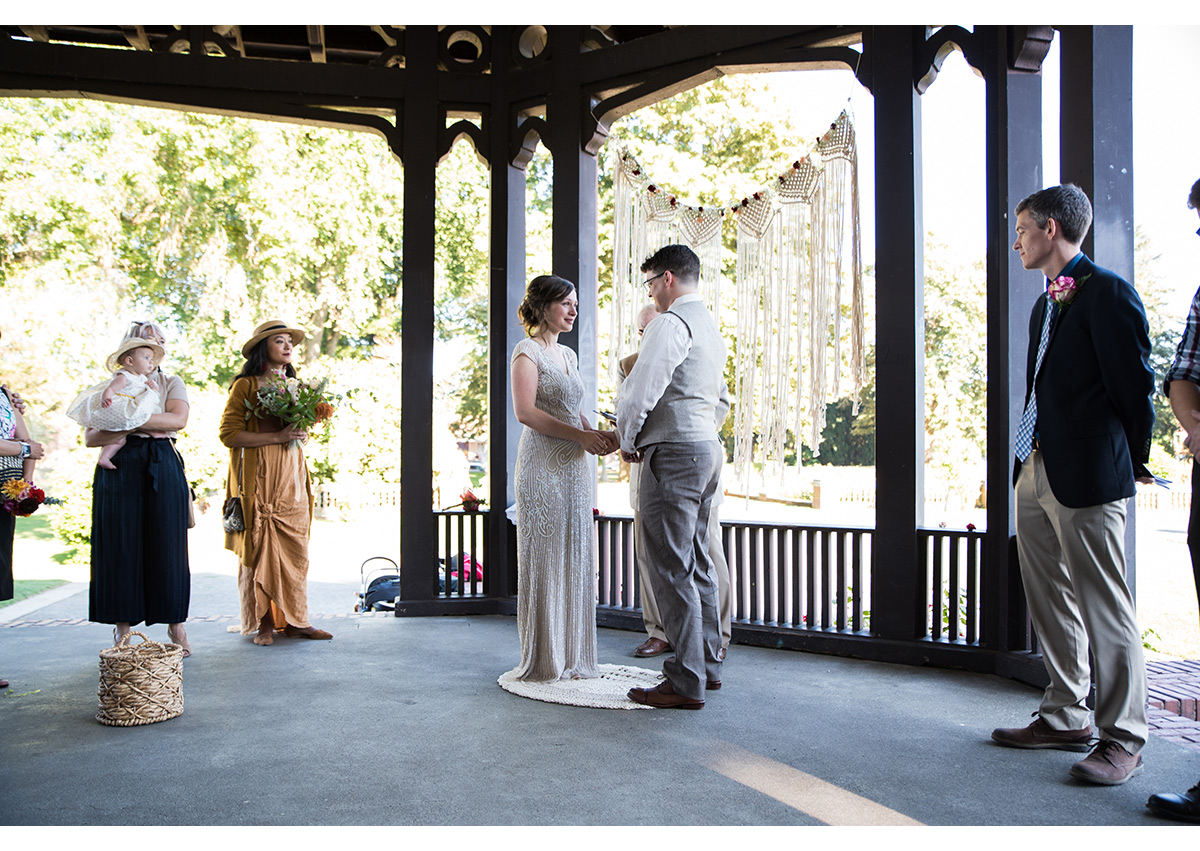 Wedding ceremony at Peninsula Park