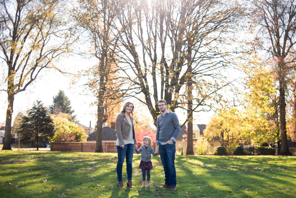 Family photo session at Berkeley Park in Portland