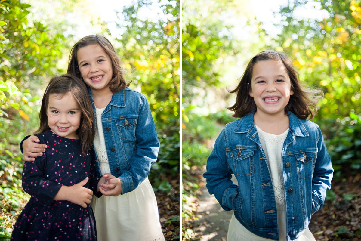 Side by side photos of kids at Crystal Springs in Portland