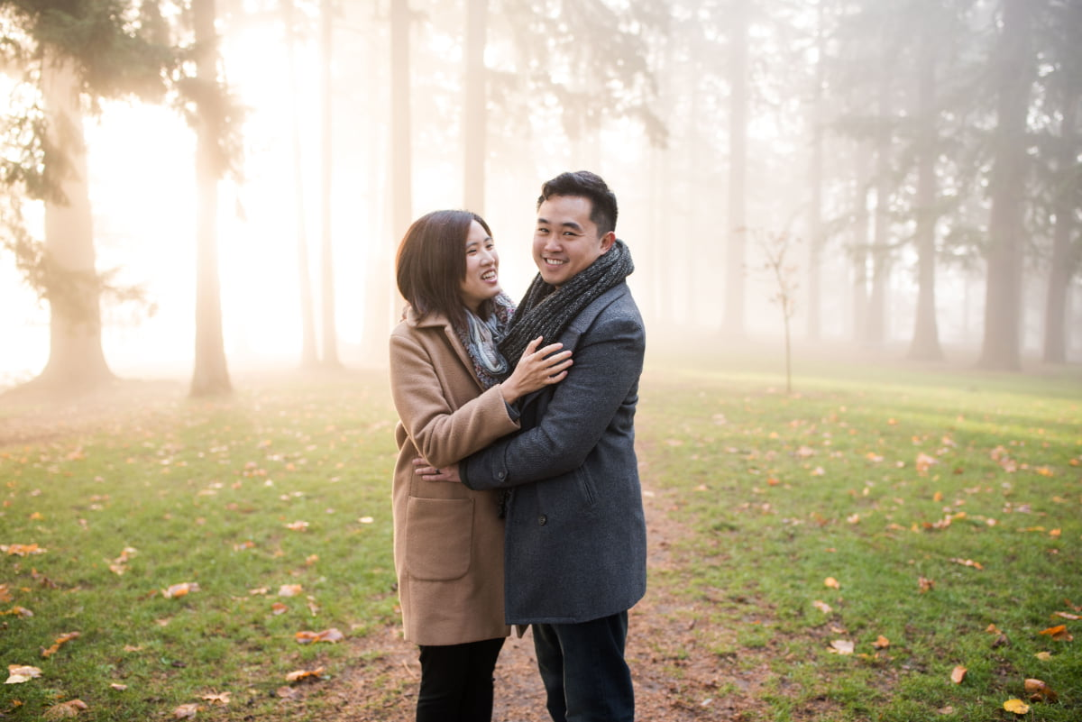 Engagement session at Mt. Tabor