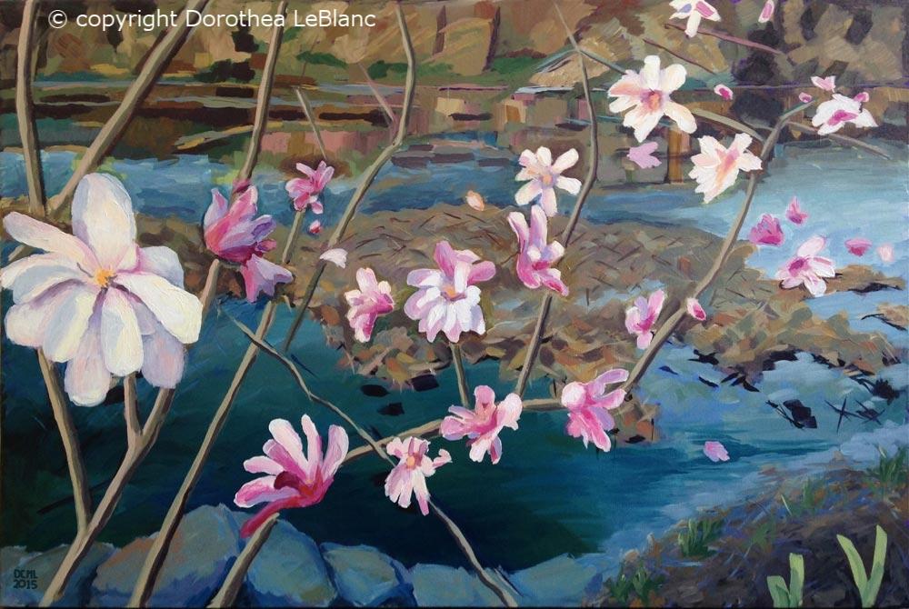 Magnolias Singing a Chorus (Public Gardens)