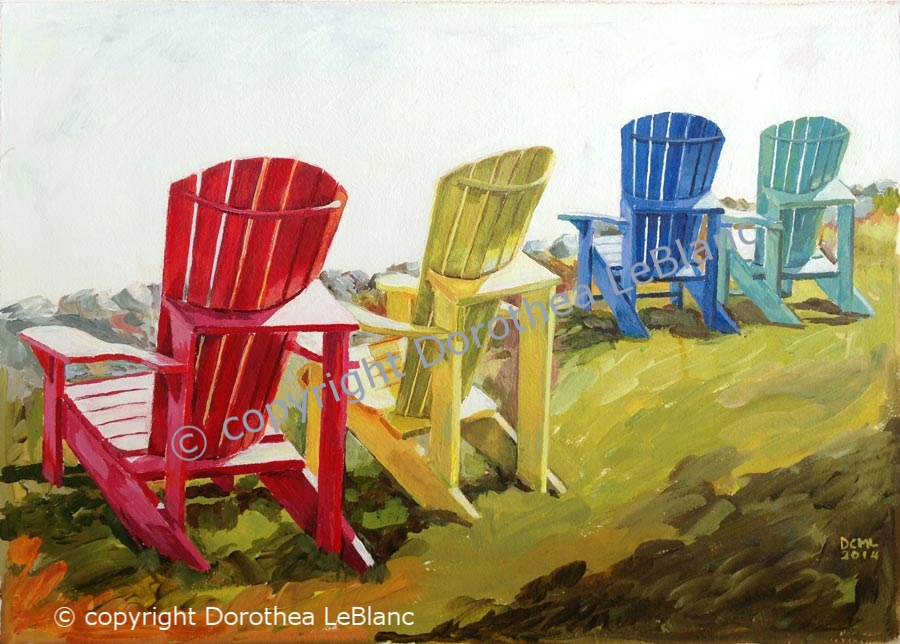 Coloured Chairs at Heather Beach, NS