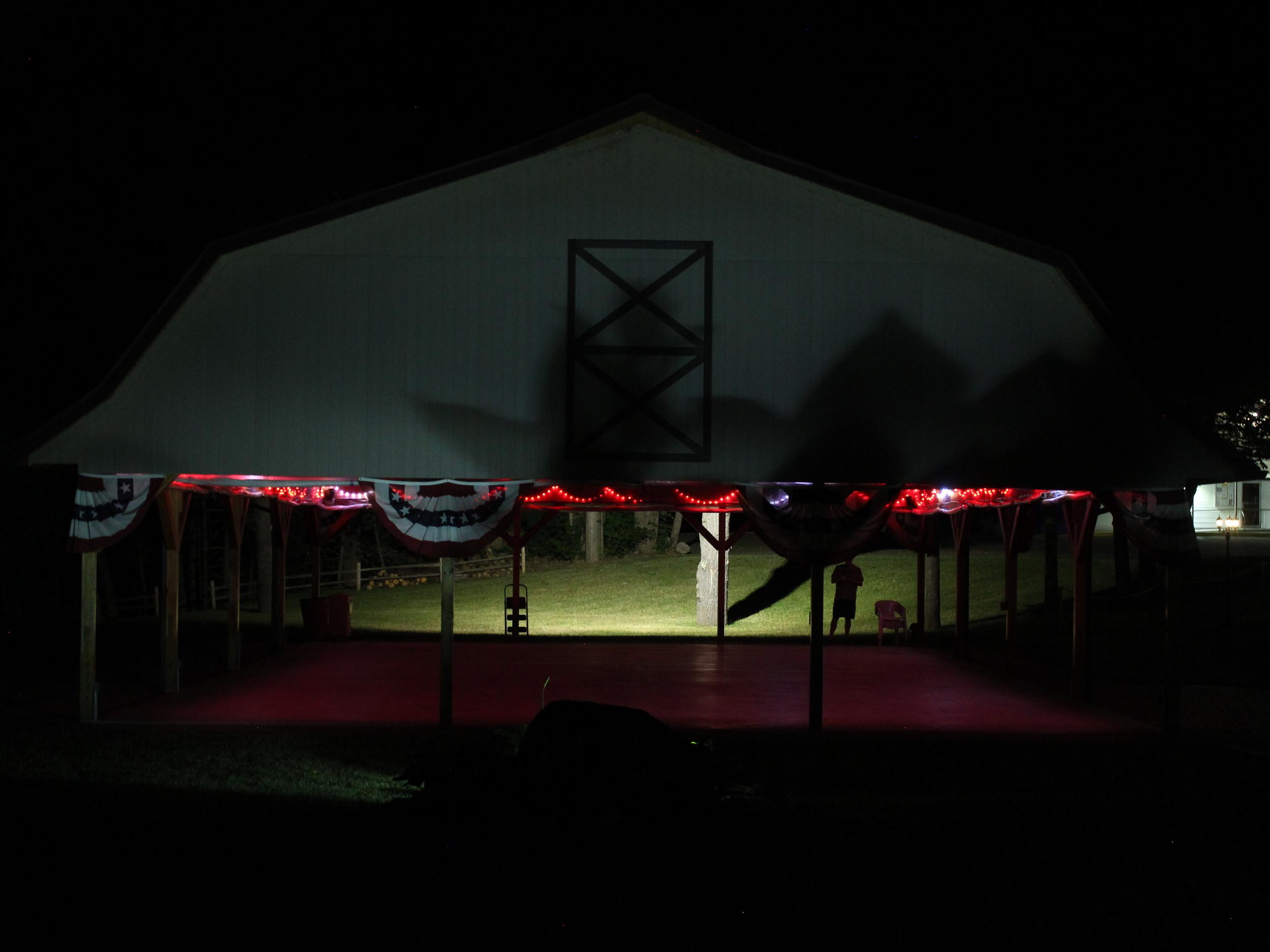 Pavillion Wedding Lighting