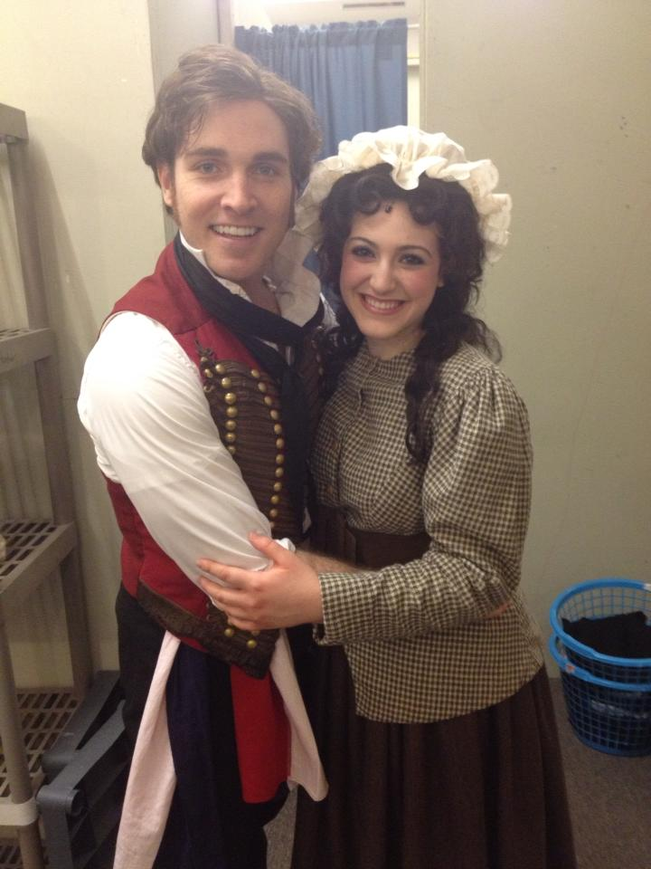 Michaela with Broadway's Tyler Hanes (Enjolras) in  Les Miserables  at Maine State Music Theatre