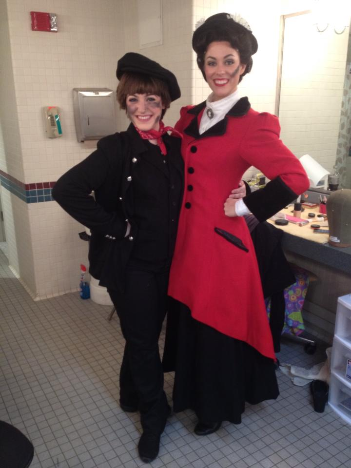 Michaela with Mary Poppins (Lauren Blackman) at MSMT