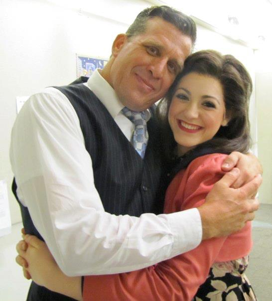 Michaela with Julian Marsh (Patrick Ryan Sullivan) in  42nd Street  at MSMT