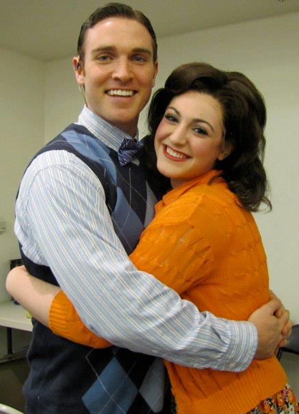 Michaela with Broadway's Tyler Hanes (Billy Lawler) in  42nd Street  at Maine State Music Theatre