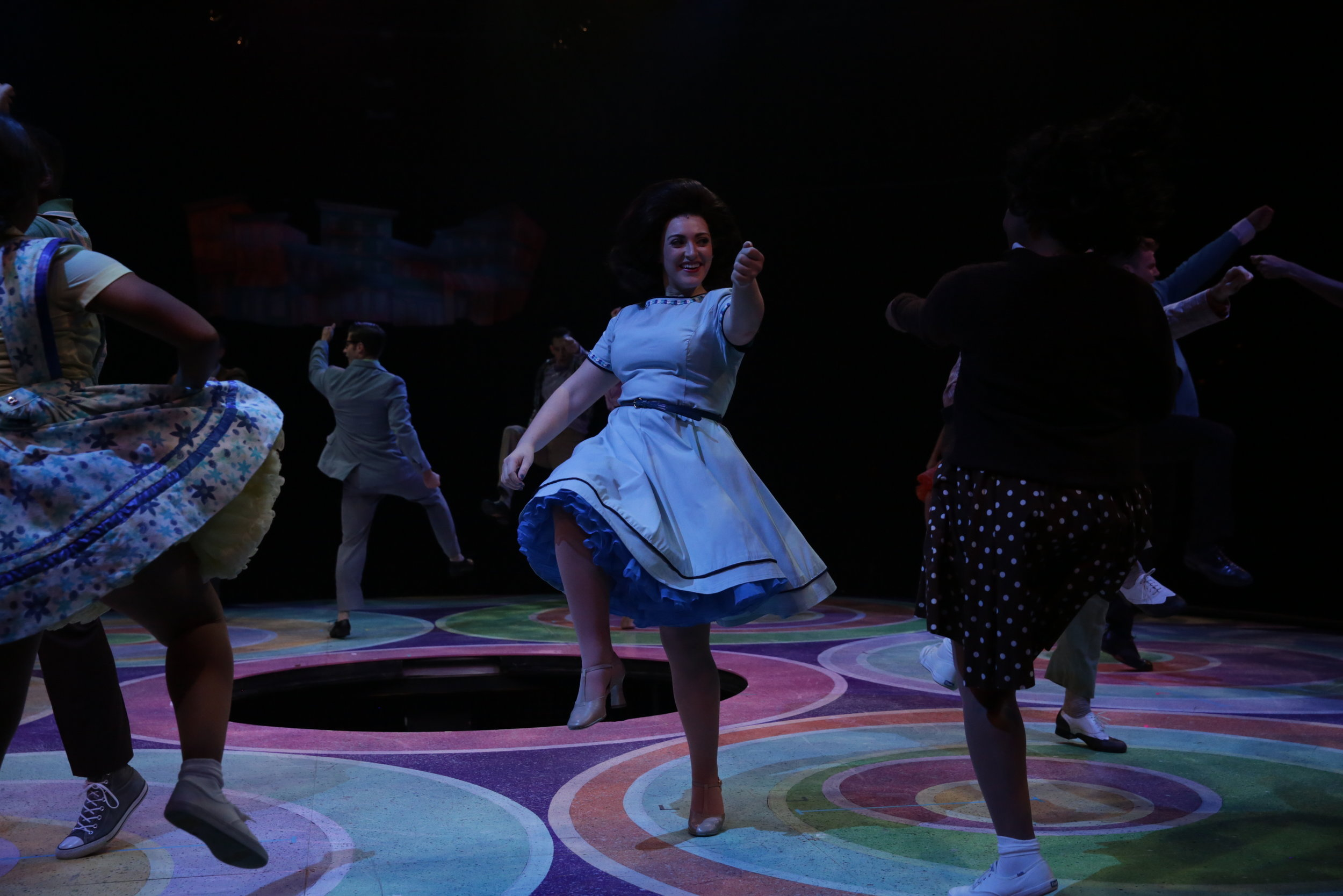 "Michaela as ""Shelly/Ensemble"" in HAIRSPRAY @ NORTH SHORE MUSIC THEATRE (2018). Photos by Paul Lyden, courtesy of NSMT."
