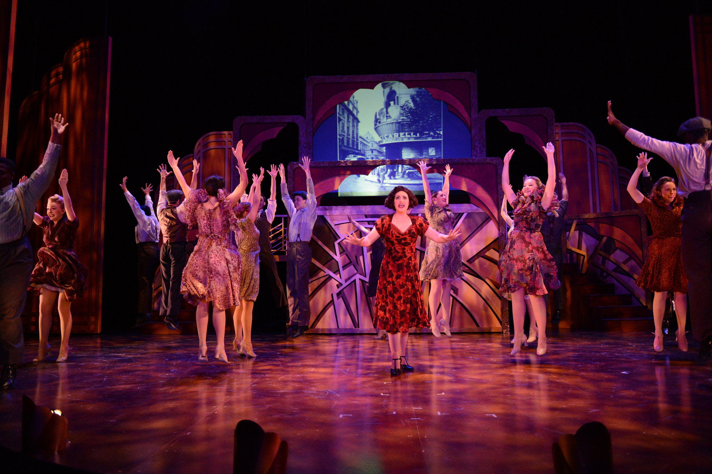 "Michaela as ""Eva"" in EVITA @ TEXAS STATE UNIVERSITY (2015). Photos by Sandra Trevino, courtesy of Texas State Musical Theatre."
