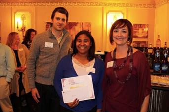Shana Black accepts the Pushin' It Award from Playhouse Square Partners