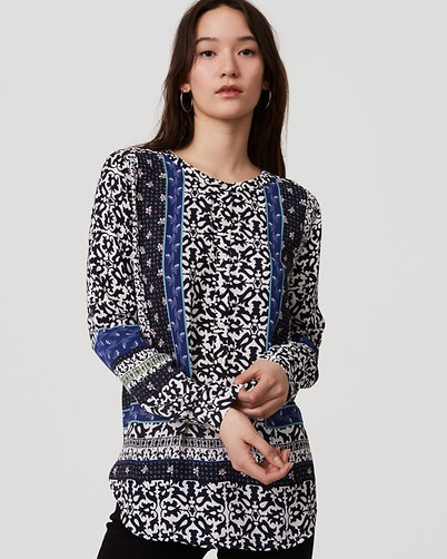 A patterned  blouse  can work as well, but should be toned down by the other clothing you choose to wear. In other words, don't go totally bold with all of your pieces. A patterned blouse can suggest a fun outgoing personality.