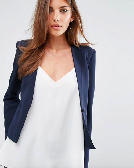 For a more modern take on a blazer, you could opt for something like this, which you could wear to an interview, or out with a pair of jeans.