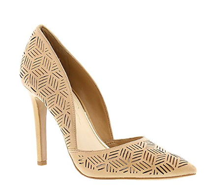 If you want to have some fun with your shoe, this is the way to do it. This is a great neutral pump that has a bit of something extra because of the detailing.