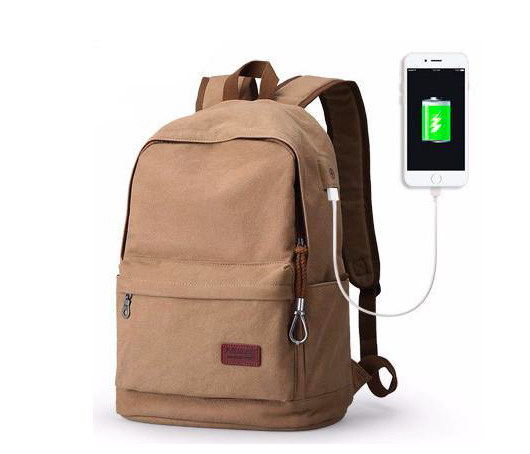 USB Canvas Backpack
