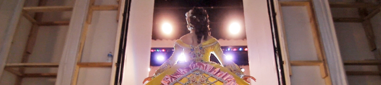 """Saturday, February 7, 6pm LAS MARTHAS  A film by Cristina Ibarra (US, 68 min. In Spanish and English with English subtitles) Winner – Best U.S. Latino Film (ex aequo) Q&A with filmmaker Cristina Ibarra  The annual debutante ball in Laredo, Texas is unlike any other in the country. In 1939, the Society of Martha Washington was founded to usher each year's debutantes (called """"Marthas"""") into proper society at the Colonial Pageant and Ball. The girls' attendants also dress as figures from America's colonial history and participate in traditional ceremonies. The centerpiece of the festivities is the Martha Washington Pageant and Ball, when the girls are presented in elaborate dresses that take up to a year to create. Celebrated as """"a striking alternative portrait of border-town life"""" (New York Times), Cristina Ibarra's Las Marthas, follows two Mexican American girls carrying this gilded tradition on their shoulders during a time of economic uncertainty and tension over immigration."""
