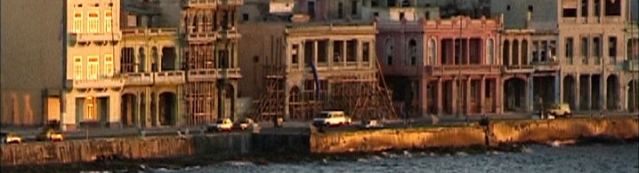 SUITE HABANA  (Fernando Pérez, Cuba/Spain, 2003, 80 min.)  A poetic homage to the city of Havana, this breathtaking film portrays Cuba's capital as no other art form has before. A loving and melancholic picture over a 24 hour period of life of this city, the film follows ten ordinary Habaneros as they go about their daily routine. There is no dialogue and no need for it either; music and natural sound accompany the multiplicity of images that weave a unique and intimate picture of a city full of contradictions and contrasts, a city of accomplished and frustrated dreams. Edited like a musical composition, Suite Habana oscillates between documentary and fiction. The ten characters range from ages 10 to 97, and represent the diversity of groups that form the city's social fabric. Each of them follows a narrative, and we follow their transformations as the workday ends and they prepare themselves to welcome the night, which brings about the daily renewal of this exceptional and fascinating city.    Wednesday, July 14, 6:30pm