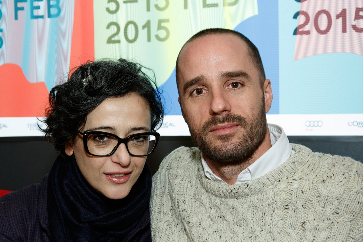 Filmmaker Sebastián Silva with Panorama programmer Paz Lázaro.