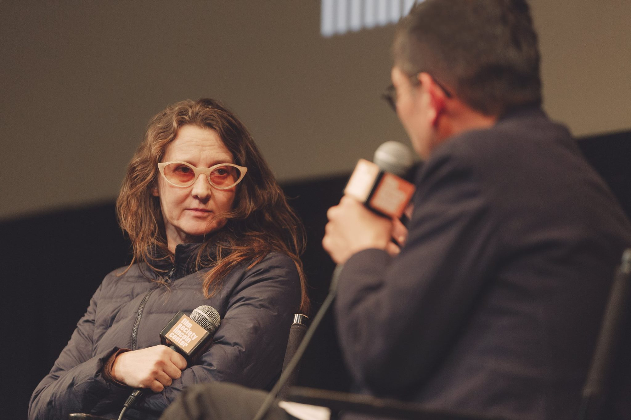 Lucrecia Martel with Dennis Lim, director of programming at the Film Society of Lincoln Center. Photography by Arin Sang-urai,Film Society of Lincoln Center.