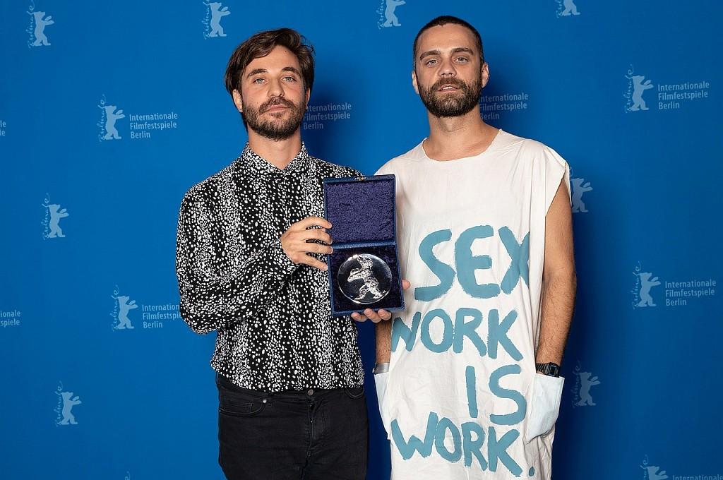 Argentine filmmaker Manuel Abramovich (left) with creative producer Bogdan Georgescu