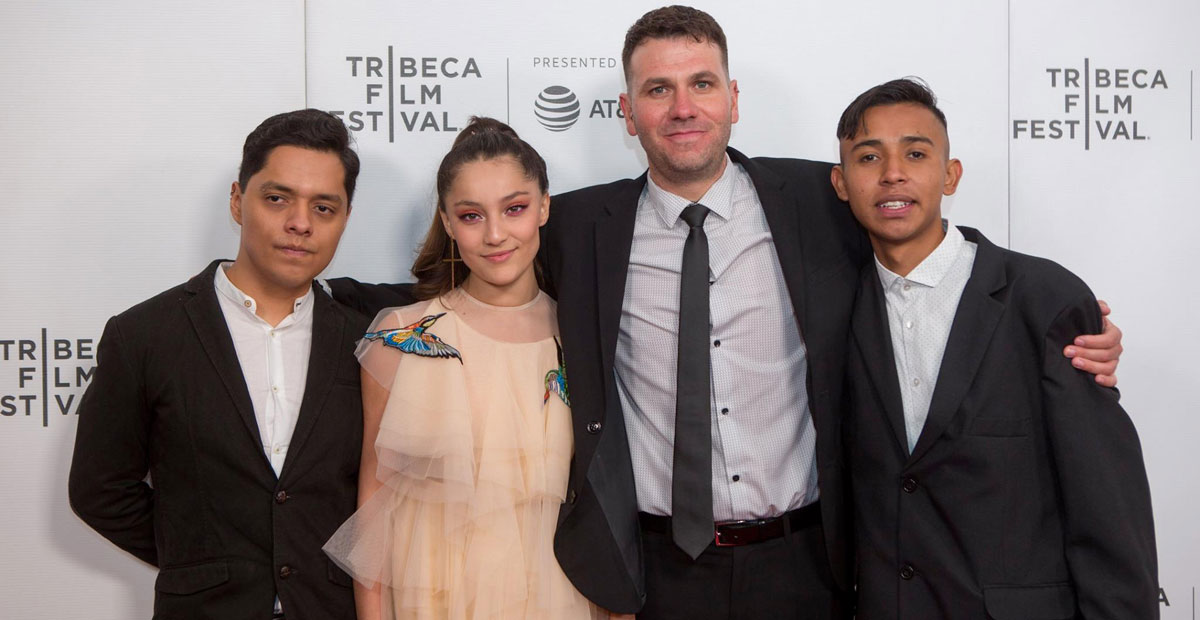 Director Edgar Nito (third from left to right) with  The Gasoline Thieves  cast members
