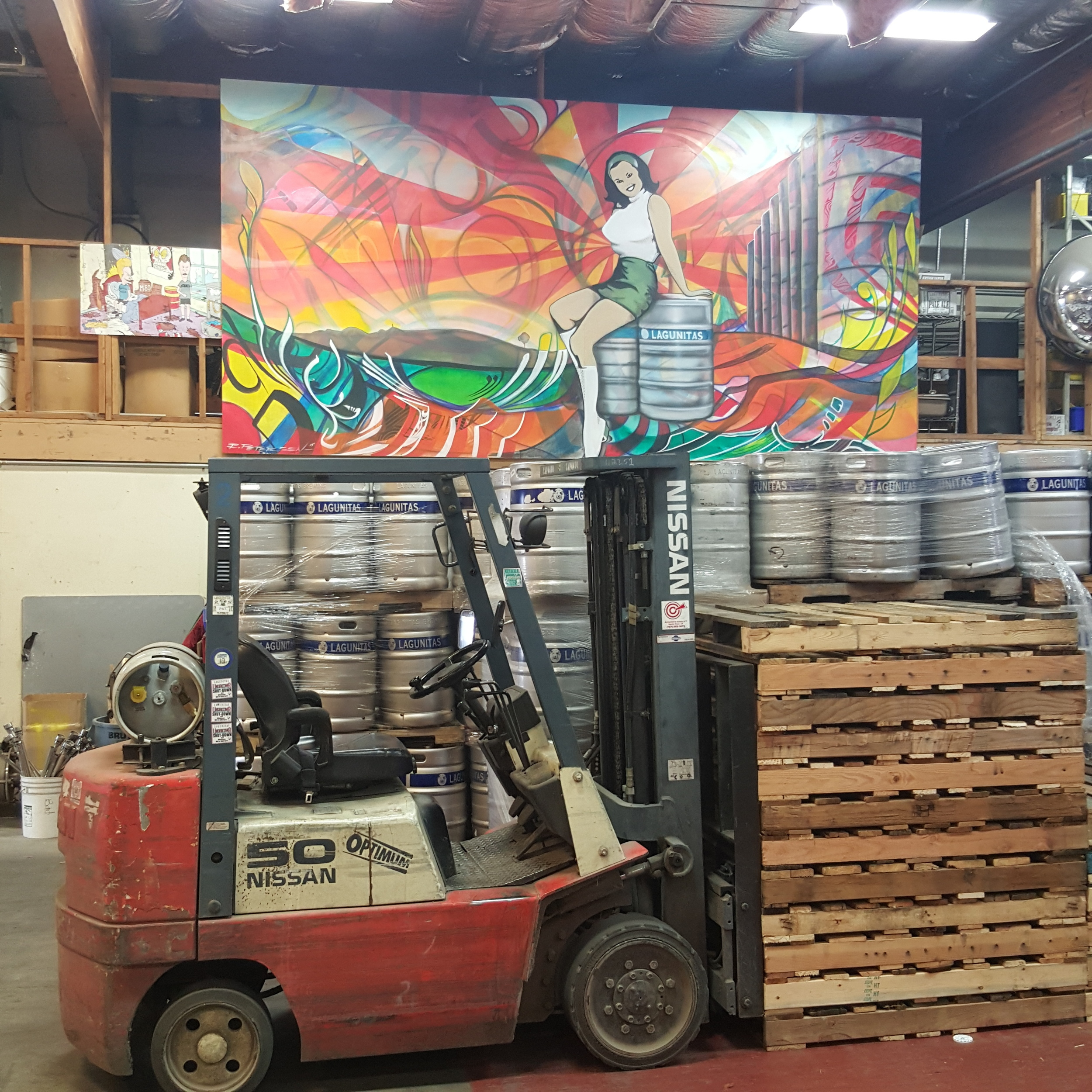 I love a mural in a brewery. So much character at Lagunitas.