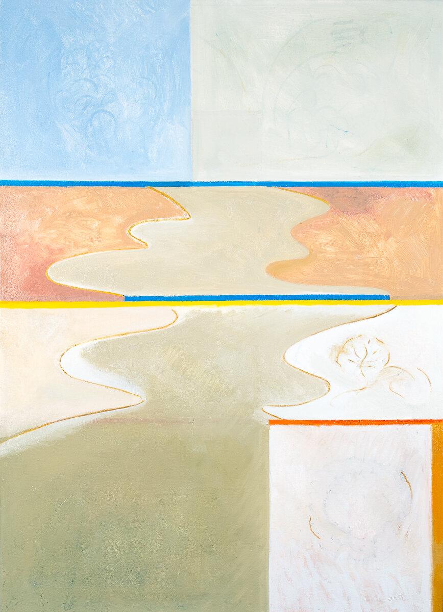 "- Leyla Rzayeva""River""2019Oil on Canvas26 x 36 in / 66 x 90 cm"
