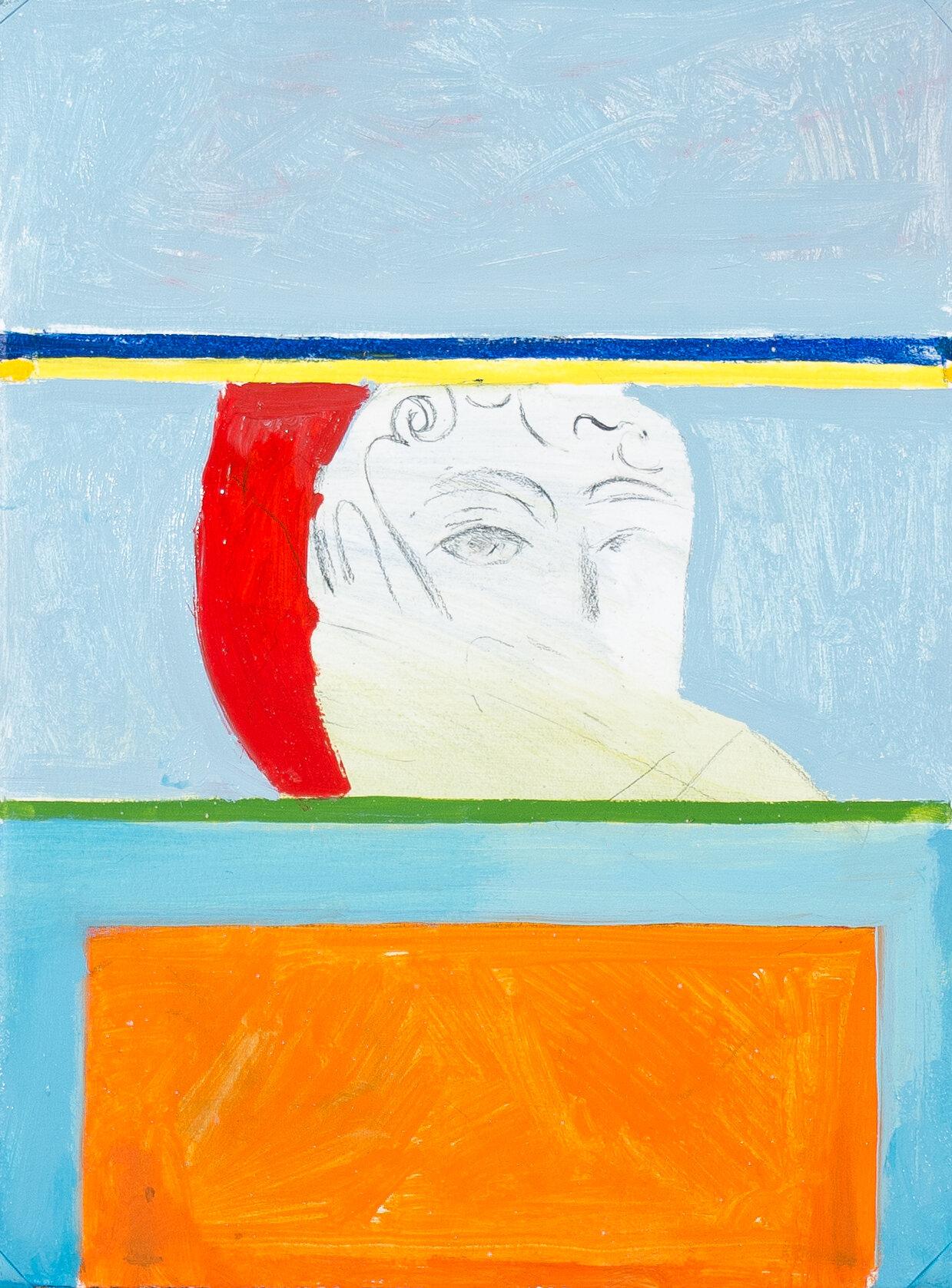 "- Leyla Rzayeva""Study""2019Oil on Canvas9 x 12 in / 22 x 30 cm"