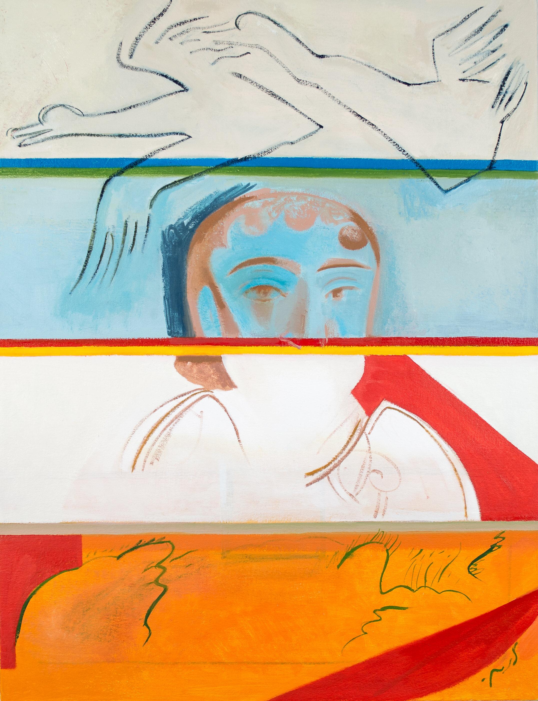 "- Leyla Rzayeva""Memory""2019Oil on Canvas18 x 24 in / 45 x 60 cm"