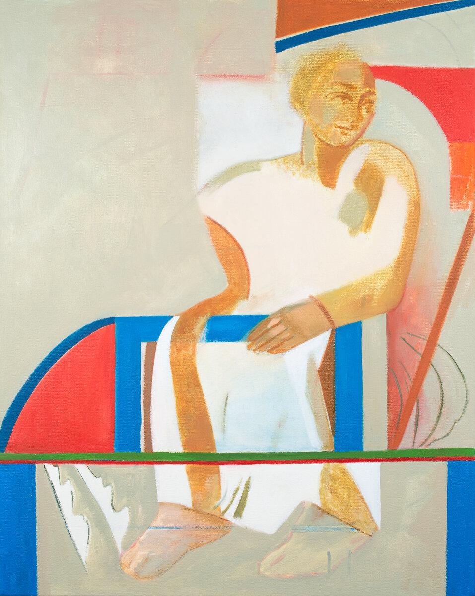 "- Leyla Rzayeva""Time""2019Oil on Canvas24 x 30 in / 60 x 76 cm"