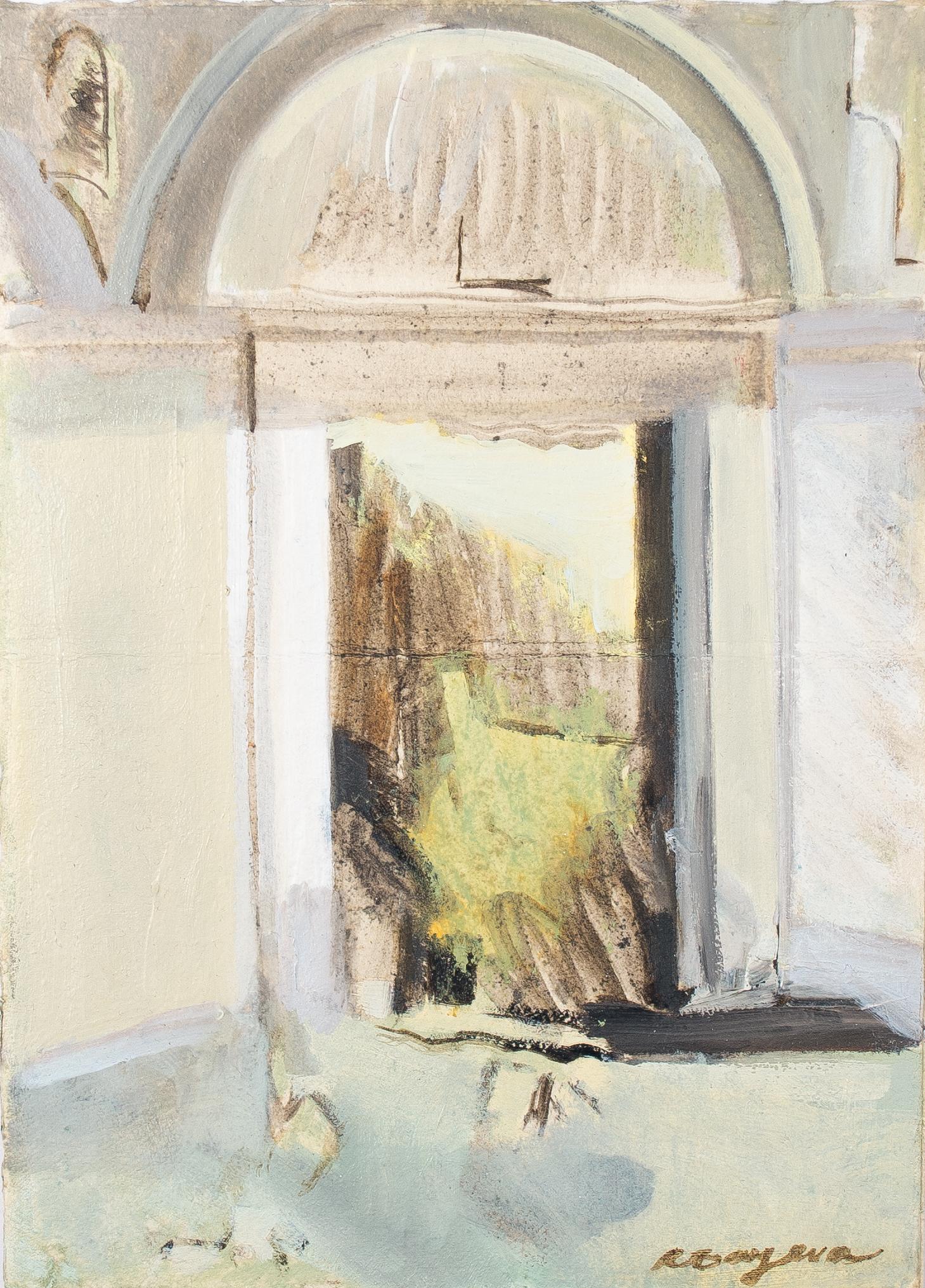 "- Leyla Rzayeva""Ruin""2018Oil on Paper6 x 8 in / 15 x 20 cm"