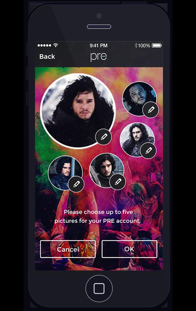 Select profile picture view