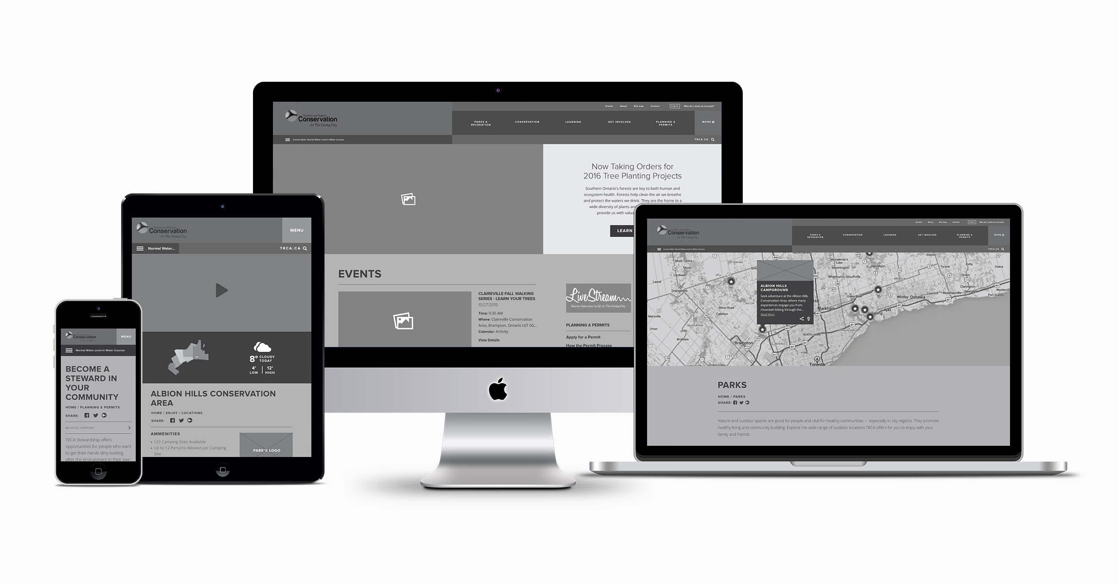 Responsive Site Wireframes