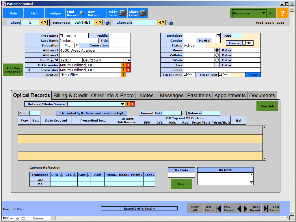Traditional Interface Example