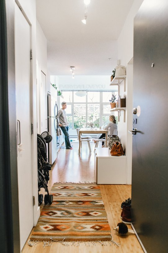 apartmenttherapy :     The Best Decorating Tips for Long or Narrow Rooms and Hallways:   http://on.apttherapy.com/Wcrm0S      Our awkward entrance way featured in an article about long entryways on Apartment Therapy.