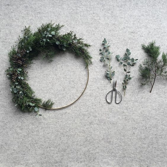 Minimal Wreath Inspiration from  Laura Melling  and  Botany + Co .