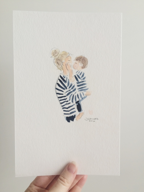 Doesn't get much more sentimental than this illustration by  Sophie and Lili
